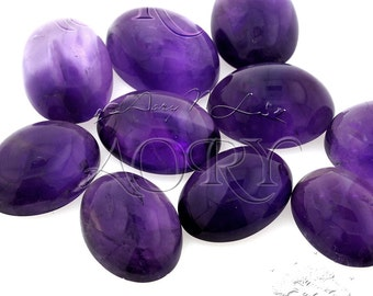 1pcs 18x13mm Natural Amethyst Cabochon, Approx Size 18x13mm, Oval Shape Cabochon, Purple Violet Color, Smooth Polished, Untreated