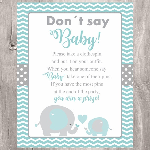 Delicate image inside don t say baby free printable