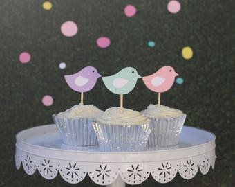 Little birdie cupcake toppers