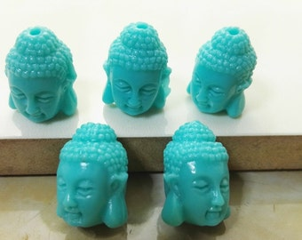 Double  sided Coral  Buddha Beads, Buddha Beads ,Meditation Beads , Buddhist Beads, Buddha  bracelet