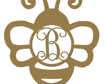 Custom Wood Bumblebee Monogram