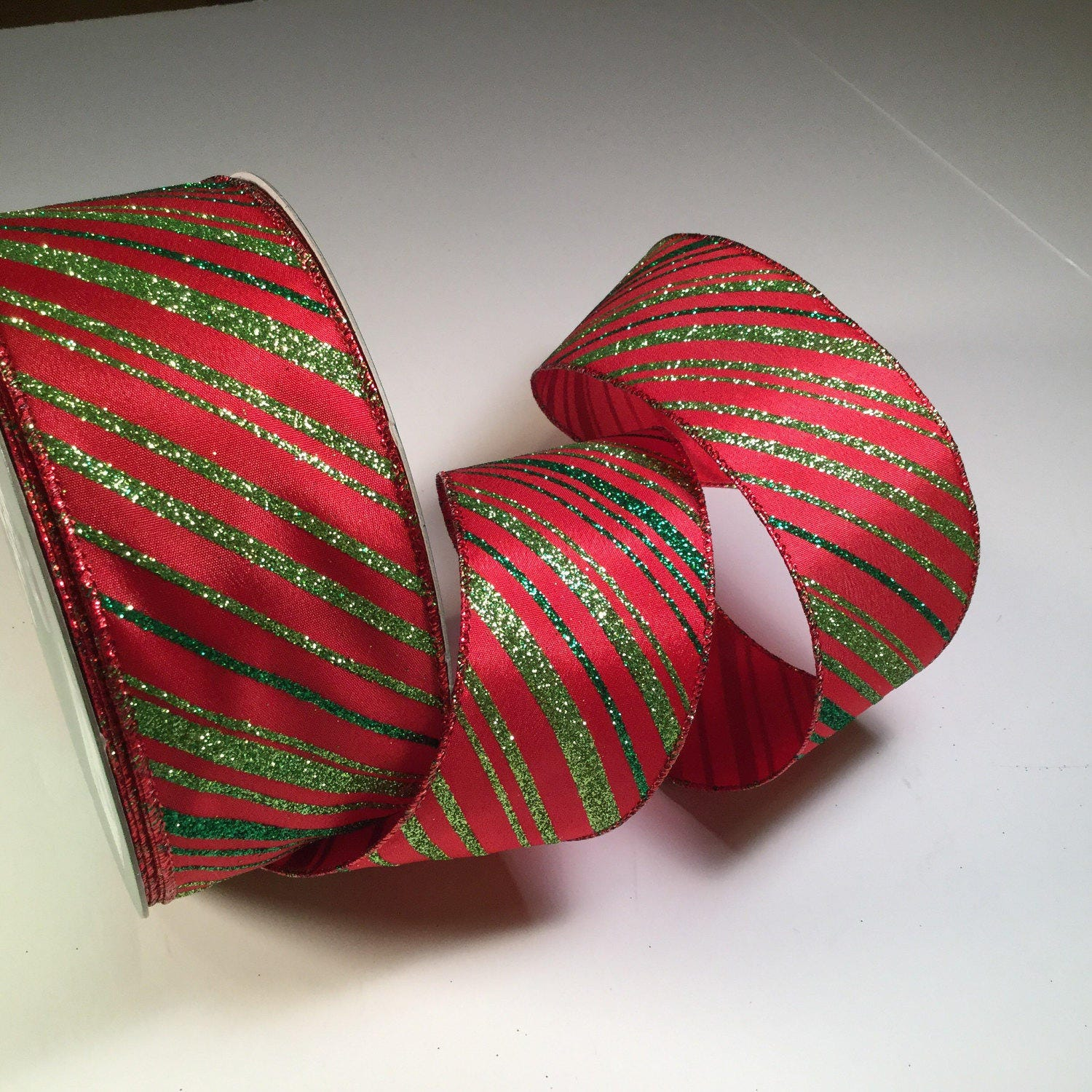 Red And Green Christmas Ribbon 5 Yd Wired Red And Green