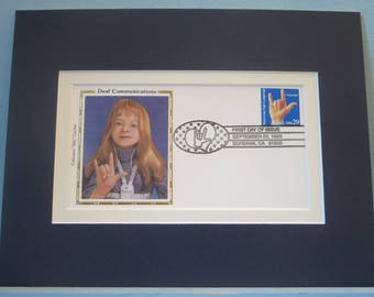 Honoring Deaf Communication  & First Day Cover of the Sign Language stamp