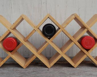 Wooden Hanging Spice Rack!