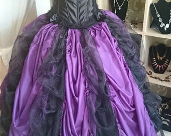 wonderful hand made Baroque dress / set, corsage and satin/tulle skirt size S / M, Renaissance, Baroque, Gothic