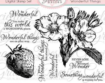 Wonderful Things - Digital Stamp Set