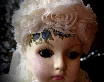 "Hand Painted Vintage Porcelain Doll ""Libby"" OOAK!"