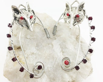 Elven Ear Cuffs - Elf Ears - Elven Ears - Wolf Earrings - Wolf Ears - Fairy Ears - Fairy Ear Cuffs - Cosplay Ears -Woodland  Elf Costume