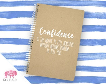 Spiral Notebook | Spiral Journal Planner | Journal | 100% Recycled | Confidence | BB080LG