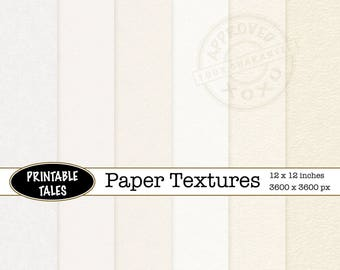 Paper texture background digital: heavy and light watercolor, cotton rag, card and rice papers, cream clean empty page, Commercial Use