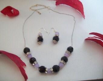 Necklace + Earring swarovski crystal