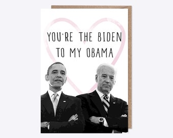 You're the Biden to my Obama | USA President | Watercolour Joe Biden, Barack Obama | Love, Bromance, Funny, Pun