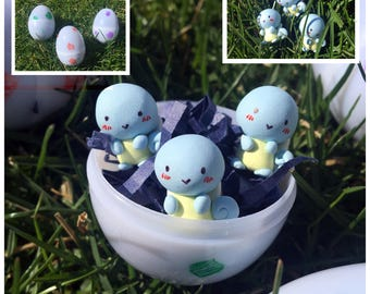Mini Polymer Squirtle Charms/Figures: Hatch an Egg!