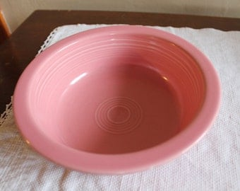 Fiestaware rose serving bowl