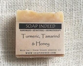 Turmeric Tamarind and Honey Soap. All Natural soap, Handmade Soap ,Herbal Soap, Vegan Soap