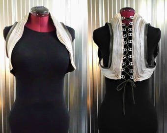 Bolero Jacket in Zippers - Recycled- One of a Kind - Post-Apocalyptic - Burning man