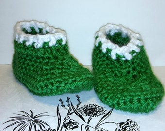 Slippers - Adult Slippers - Crochet Slippers - Adult Crochet Slippers - Adult Slippers - Womens Slippers - Green Slippers