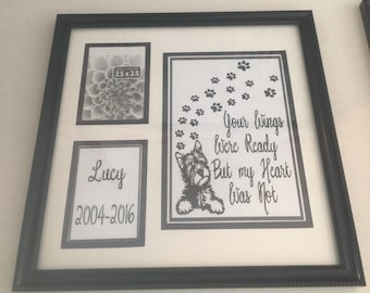 Pet Memorial Frame -Breed Specific-Personalized - great gift- cat or dog