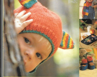 UK original book by Zoe Meller - Head to Toe Knits - 25 colourful accessories for your home and children