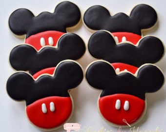 Mickey Mouse Cookies - One Dozen