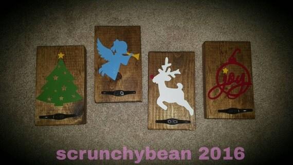 Stocking hanger. Christmas stocking hanger. Holiday wall decor hanger. Wood stocking holder. Family stocking plaque sign. Hang stockings.