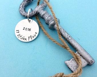 Personalized Housewarming Gift - New Home Gift - Home Decor - Skeleton Key - Wedding Favor Gift - New Business Gift - Realtor Gift -