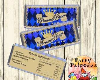 Printable Prince Baby shower Candy Bar Wrapper