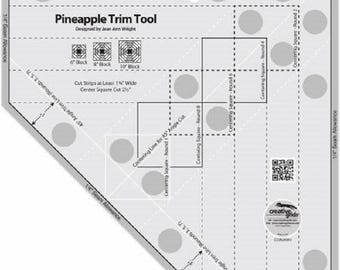 Creative Grids Pineapple Trim Tool  Ruler + Flying Pineapple Quilt Pattern #CGRJAW3