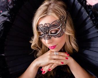 Womens Masquerade Mask, Venetian Crystal filigree mask, Wedding masks, Prom Mask, Masquerade Ball Masks