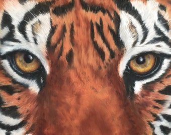 Tiger Eyes - Limited Edition Mounted Artist print hand finished and signed