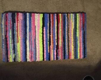 Multi color alpaca fiber rug