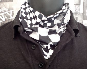 Neck tube, Snood, Chequered flag neck tube, Scarf, Bikers neck tube