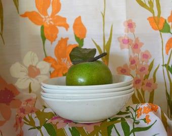 Vintage Ironstone Bowls White Ironstone bowls Ironstone dishes J&G Meakin Vintage Ironstone White Ironstone dishes White Bowls White dishes