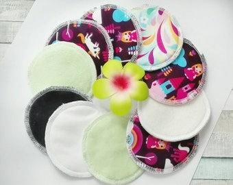5 pairs pack - Rusable bamboo nursing pads, Nursing pads for sensitive skin, Reusable Breast Pads, Bamboo Pads RANDOM PRINT