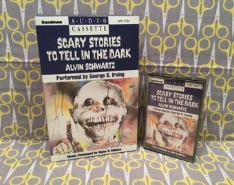 Scary Stories to Tell in the Dark by Alvin Schwartz Cassette Tape read by George S. Irving Vintage