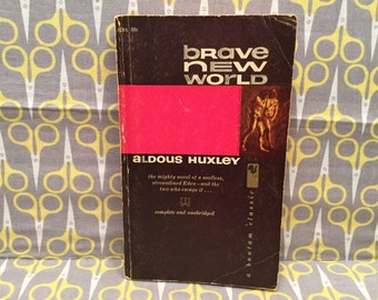 Brave New World by Aldous Huxley paperback book dystopia nightmare government rule cloning