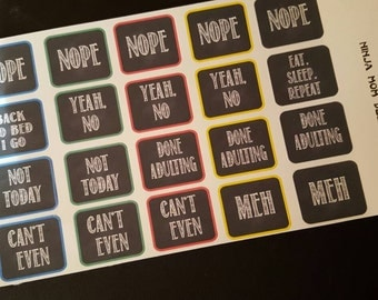 Snarky Fun Adulting is Hard Stickers - Perfect for Planners