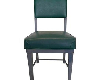 Industrial   Office Desk Chair (1) in Hunter  Green Vinyl