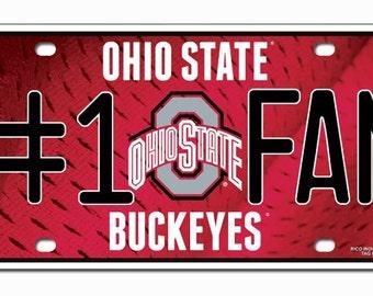 Ohio State Buckeyes #1 Fan License Plate