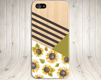 Sunflower Color Palate x Geometric Wood Print Case, iPhone 7, iPhone 7 Plus, Tough iPhone Case, Galaxy s8, Samsung Galaxy Note 5 CASE ESCAPE