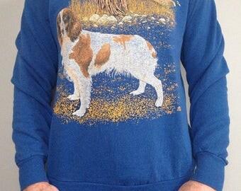 Brittany Spaniel - Bird Dog - Vintage Sweatshirt