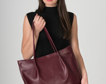 Mother Day Gift Leather Purse, Leather Bag, Leather Handbag, Leather tote, Everyday Bag
