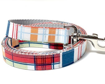 Coastal Plaid Dog Leash ONLY