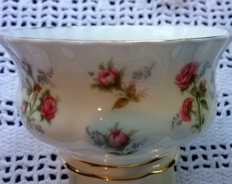 Royal Albert Winsome Open Sugar Bowl, Royal Albert Winsome, China Sugar Bowl, Royal Albert, Winsome Pattern, English Bone China, Sugar Bowl