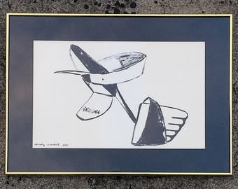 Andy Warhol Plate Signed Shoe Print