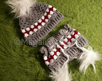Package: Beanie and cache neck low theme of wool