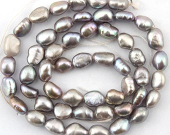 20%OFF 5-6mm Natural Baroque pearl beads  Freshwater Pearl beads Gray Color 49pcs--15inch--Full Strand Item No-FS76