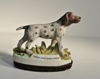 Rare Vintage JASCO GERMAN Short Haired POINTER Figurine Lint Brush Ceramic