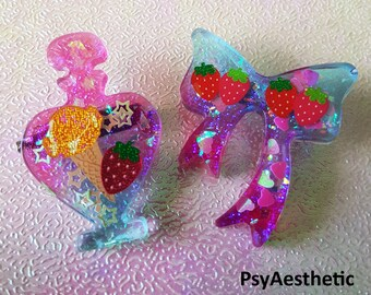 Perfume and Ribbon brooch set