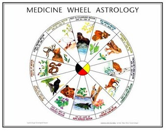 Medicine Wheel Astrology Art Poster